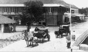 Kereta kuda ala Eropa di Glodok